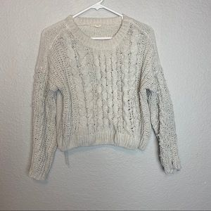 Garage Chunky Knit Slouchy Cozy Pullover Sweater